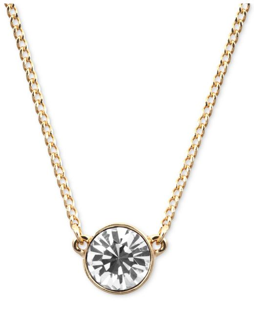 Givenchy | Metallic Necklace, Swarovski Element Pendant | Lyst