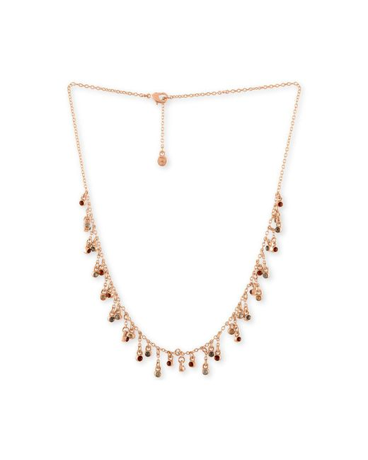 RACHEL Rachel Roy | Pink Rose Gold-tone Multicolor Crystal Choker Necklace | Lyst