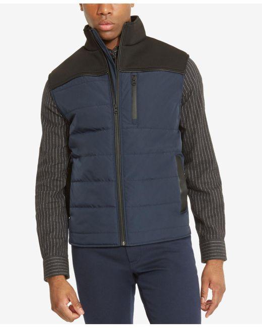 Kenneth Cole Reaction   Blue Men's Colorblocked Puffer Vest for Men   Lyst
