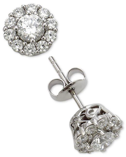 Marchesa | Metallic Diamond Cluster Stud Earrings (1 Ct. T.w.) In 18k White Gold | Lyst