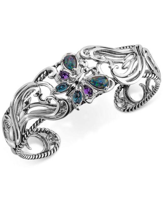 Carolyn Pollack - Metallic Multi-gemstone Butterfly Bracelet (2-1/5 Ct. T.w.) In Sterling Silver - Lyst