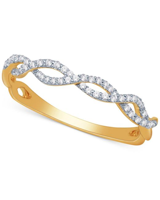 Macy's - Metallic Diamond Braided Band (1/5 Ct. T.w.) - Lyst