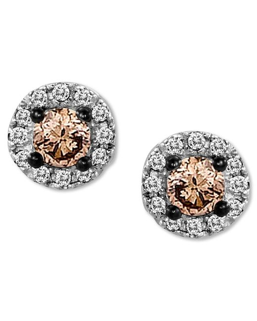 Le Vian   Pink Chocolate Diamond (1/4 Ct. T.w.) And White Diamond Accent Stud Earrings In 14k White Gold   Lyst