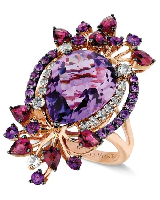 Le Vian | Pink Crazy Collection Multi-stone Ring In 14k Strawberry Rose Gold (8 Ct. T.w.) | Lyst