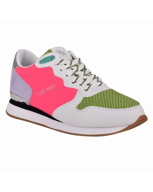 Nine West Multicolor Banx Lace Up Sneakers
