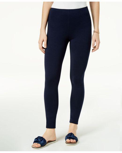 Maison Jules - Blue Basic Mid-rise Leggings, Created For Macy's - Lyst