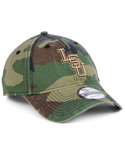 100% authentic 065a7 0d417 ... KTZ - Green Lsu Tigers Woodland Classic Twill 9twenty Strapback Cap for  Men - Lyst ...