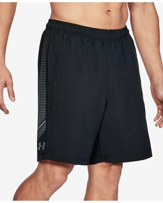 "Under Armour - Black Lightweight Woven 8"" Shorts for Men - Lyst"