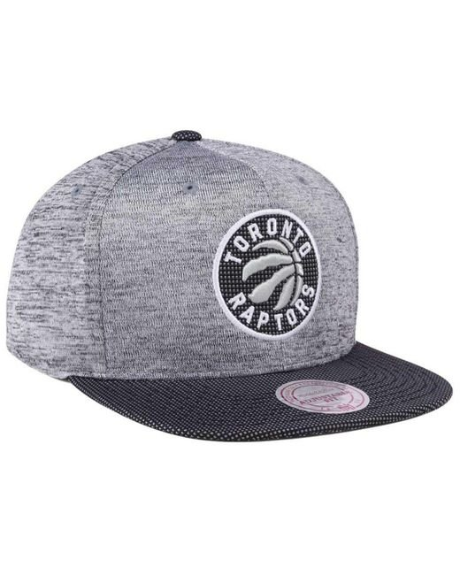 new product 96450 854b9 ... Mitchell   Ness - Gray Space Knit Snapback Cap for Men ...