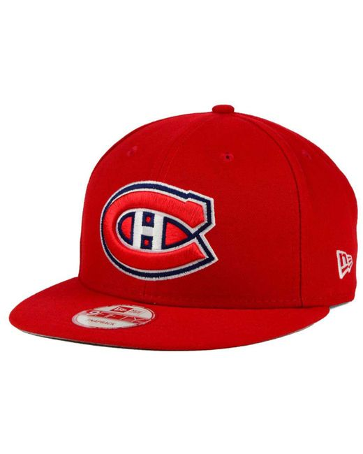 KTZ - Red Montreal Canadiens All Day 9fifty Snapback Cap for Men - Lyst