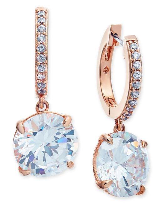 Kate Spade - Metallic Crystal And Pavé Drop Earrings - Lyst