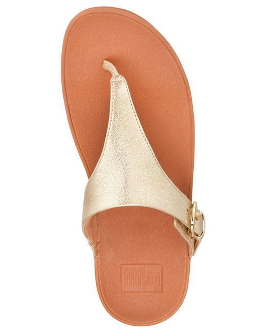 3f824a49354d7c ... Fitflop - Multicolor Skinny Toe-thong Wedge Sandals - Lyst ...