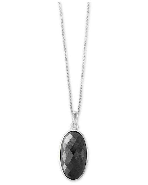 Effy Collection - Metallic Hematite (28 X 15mm) Pendant Necklace In Sterling Silver - Lyst