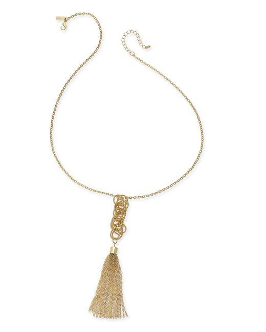 INC International Concepts - Metallic Long Tassel Pendant Necklace - Lyst