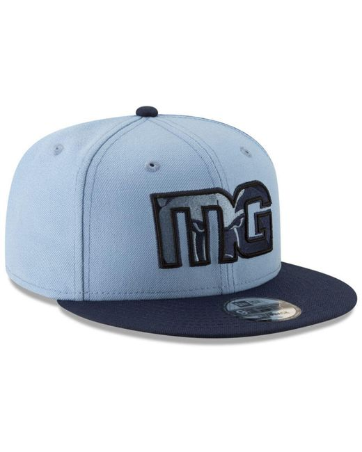 best sneakers 163d4 63caa ... KTZ - Blue Memphis Grizzlies Light City Combo 9fifty Snapback Cap for  Men - Lyst ...