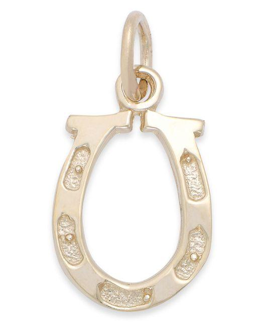 Macy's | Metallic Polished Horseshoe Charm In 14k Gold | Lyst