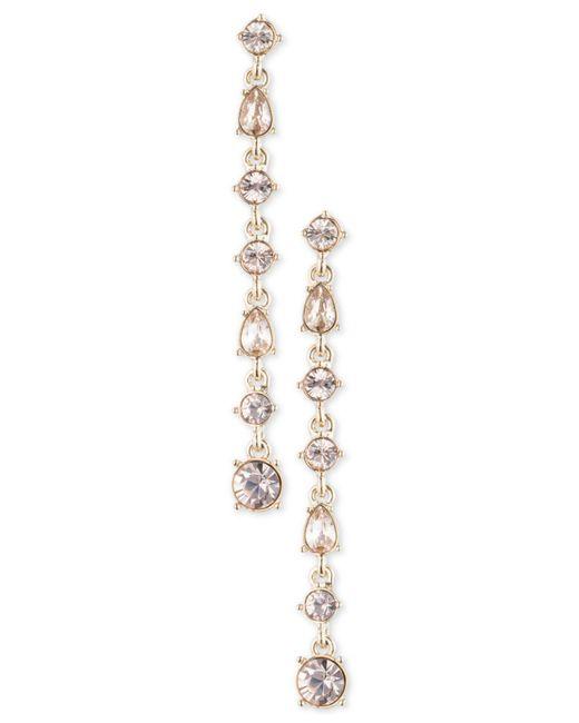Givenchy - Metallic Multi-crystal Linear Drop Earrings - Lyst