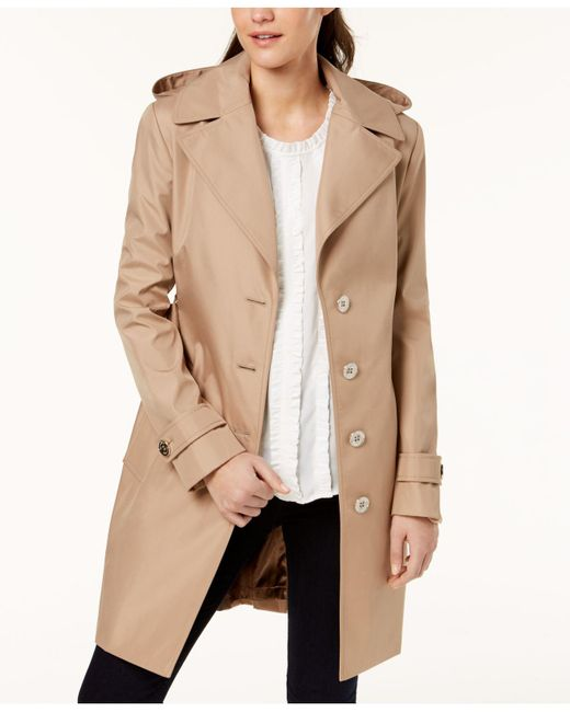 CALVIN KLEIN 205W39NYC - Natural Belted Waterproof Trench Coat - Lyst