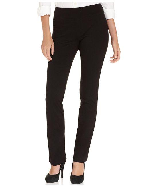 Karen Kane - Black Pants, Straight-leg Pull-on - Lyst