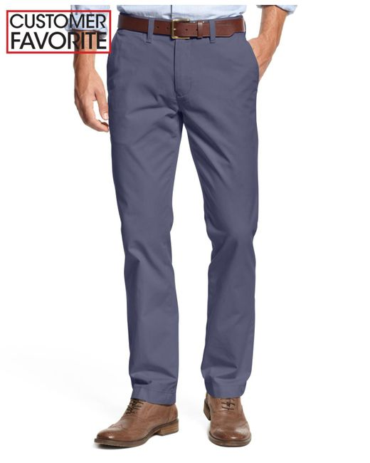 Tommy Hilfiger - Blue Men's Big & Tall Chino Pants for Men - Lyst