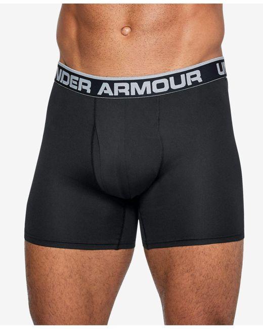 """Under Armour - Black Threadborne Microthread 6"""" Underwear for Men - Lyst"""