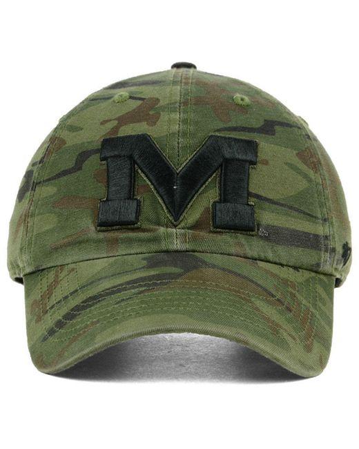save off 18897 e9657 ... 47 Brand - Green Ole Miss Rebels Regiment Clean Up Strapback Cap for  Men - Lyst ...