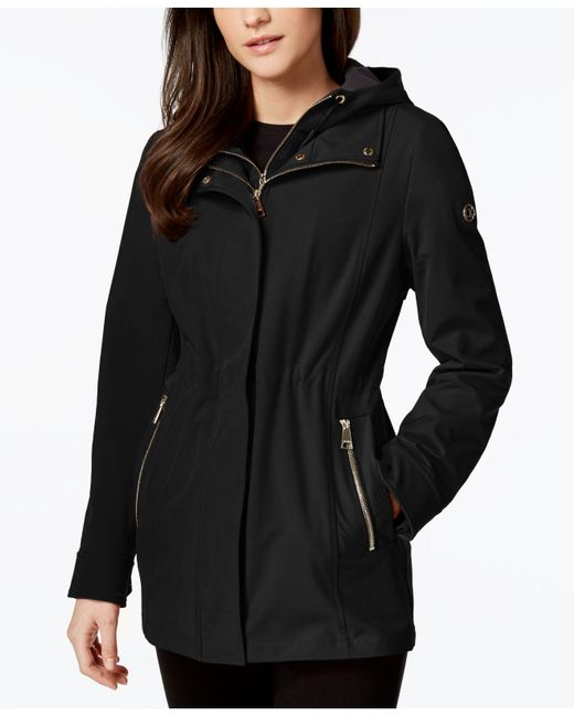 CALVIN KLEIN 205W39NYC - Black Layered Softshell Coat - Lyst