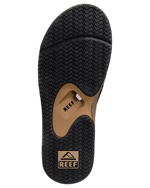 92a52e722ba ... Reef - Brown Fanning Thong Sandals With Bottle Opener - Lyst