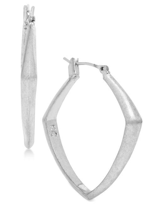 Kenneth Cole   Metallic Geometric Hoop Earrings   Lyst