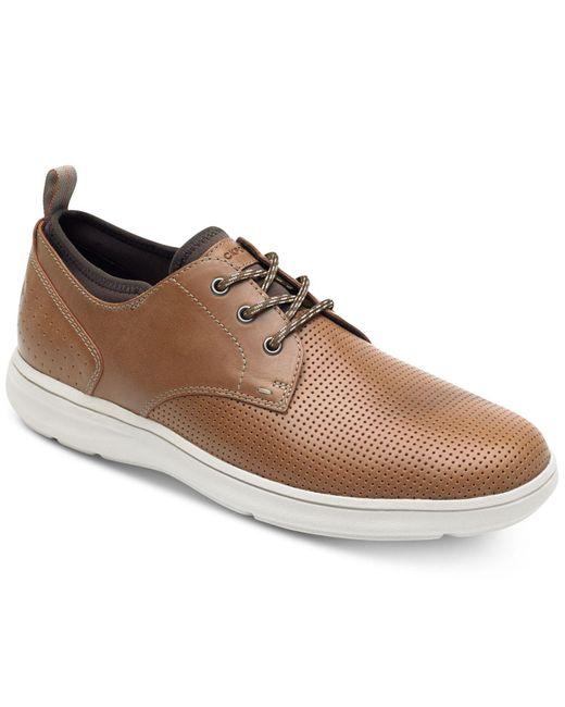 Rockport Brown Plain-toe Zaden Oxfords for men