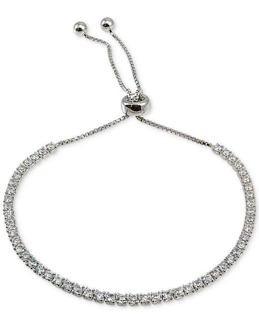 Giani Bernini - Metallic Cubic Zirconia Slider Bracelet In Sterling Silver, Created For Macy's - Lyst