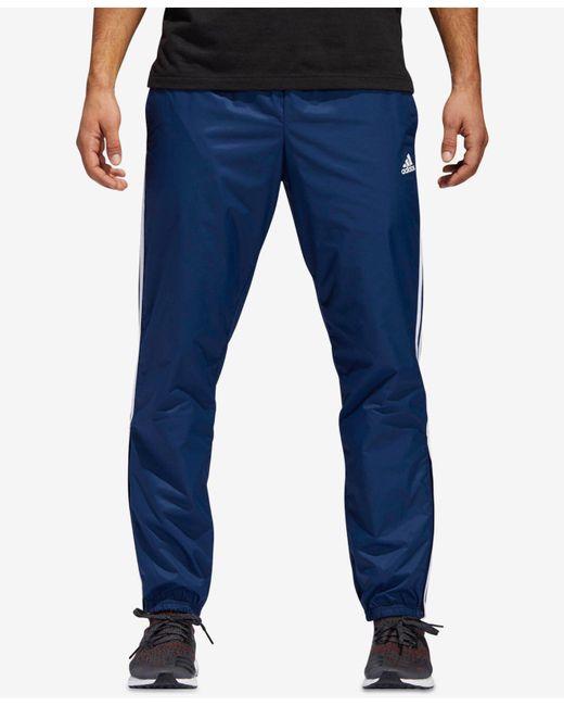 Adidas - Blue Essentials Pants for Men - Lyst