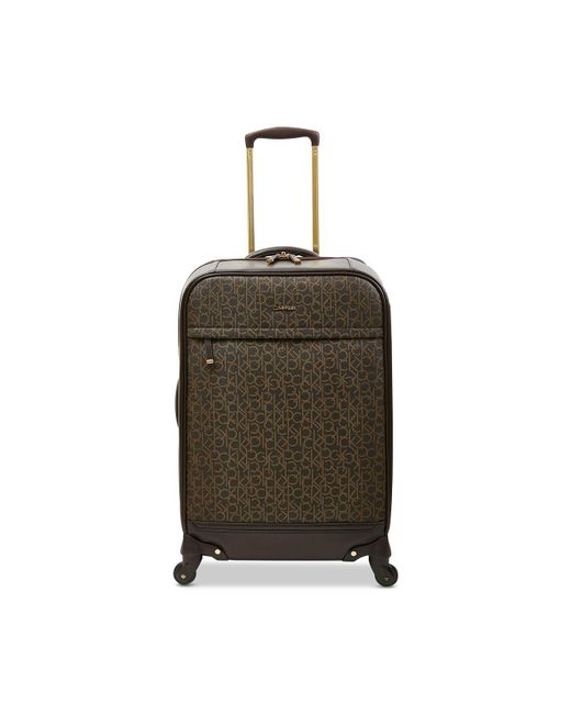 """CALVIN KLEIN 205W39NYC - Brown Mulberry 24"""" Softside Spinner Suitcase - Lyst"""