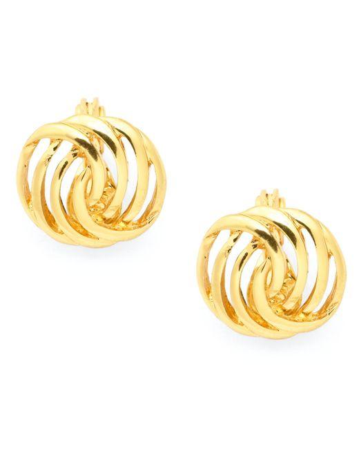 Charter Club | Metallic Gold-tone Openwork Button Earrings | Lyst