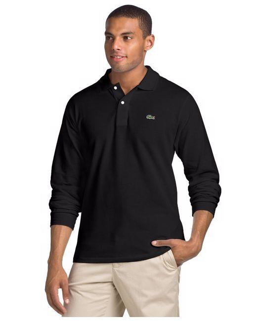 Lacoste   Longsleeve Pique Polo Black for Men   Lyst