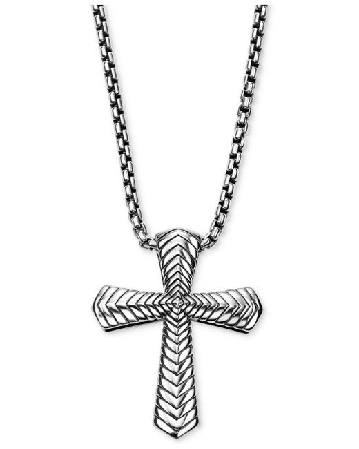 Scott Kay - Metallic Men's Textured Pendant Necklace In Sterling Silver - Lyst