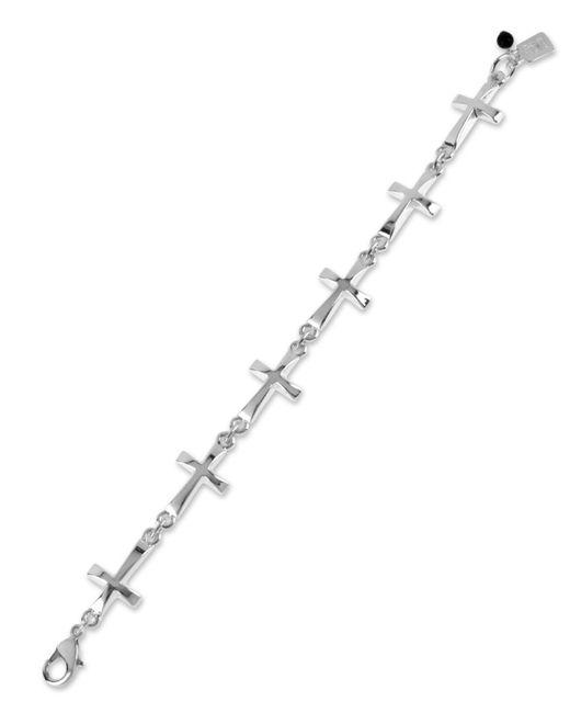 Robert Lee Morris | Metallic Bracelet, Silver-tone Cross Link Bracelet | Lyst