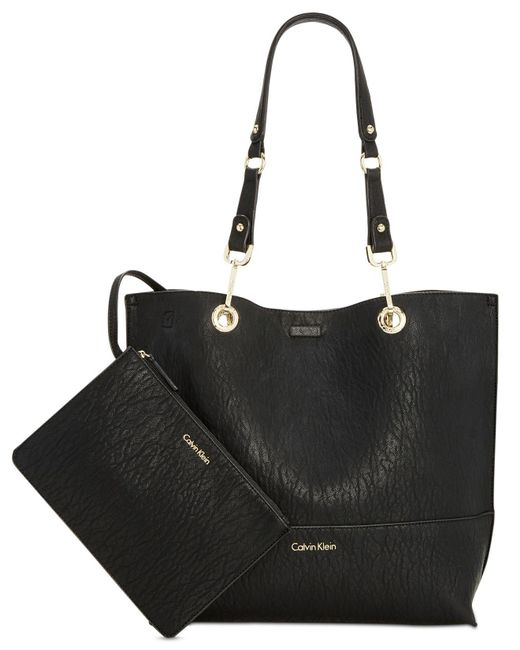 Calvin Klein - Brown Sonoma Reversible Novelty Tote With Pouch - Lyst