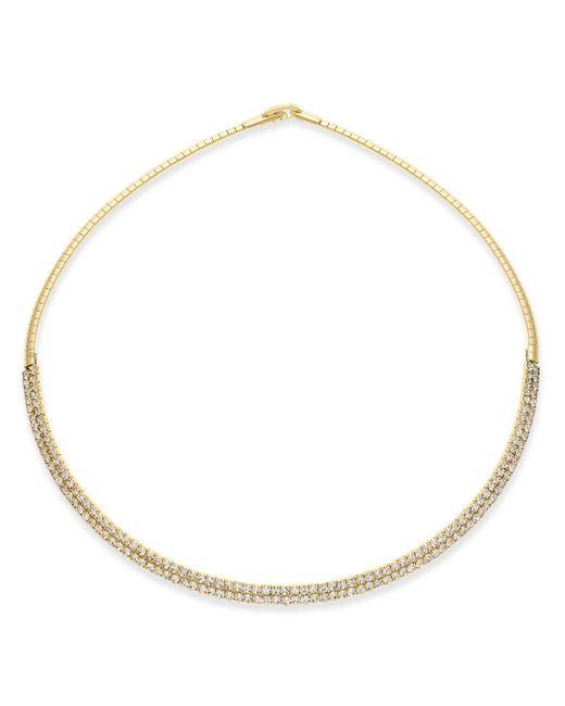 INC International Concepts   Metallic Silver-tone Crystal Collar Necklace   Lyst