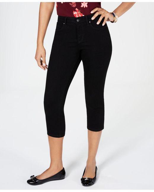Charter Club Black Tummy-control Bristol Capri Jeans, Created For Macy's