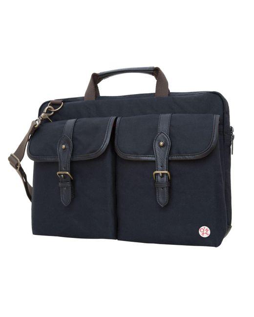 """Token Black Waxed Knickerbocker 15"""" Laptop Bag"""