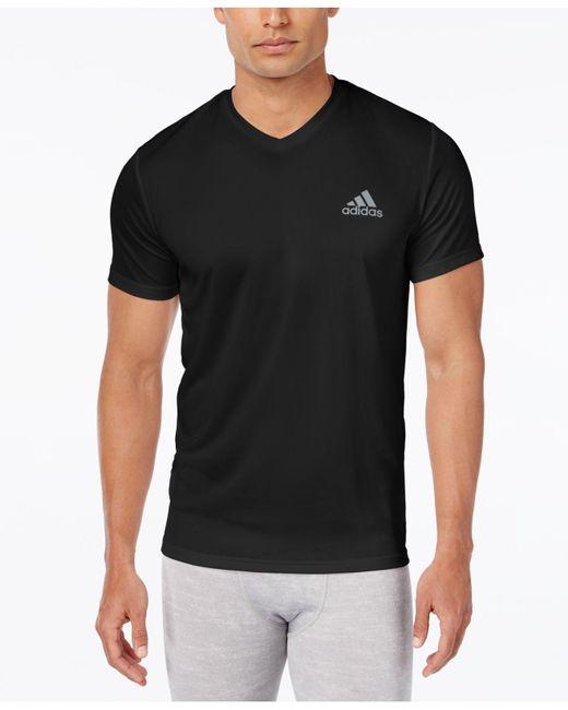 Adidas - Black Men's V-neck Climalite T-shirt for Men - Lyst