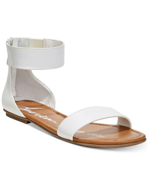 American Rag - White Keley Two-piece Flat Sandals, Created For Macy's - Lyst