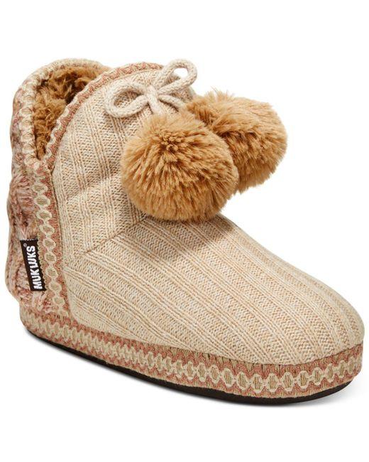 Muk Luks - Brown Women's Amira Boot Slippers - Lyst