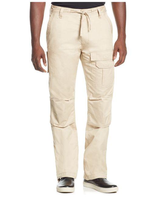 Sean John | Natural Men's Pleat Pocket Flight Cargo Pants, Only At Macy's for Men | Lyst