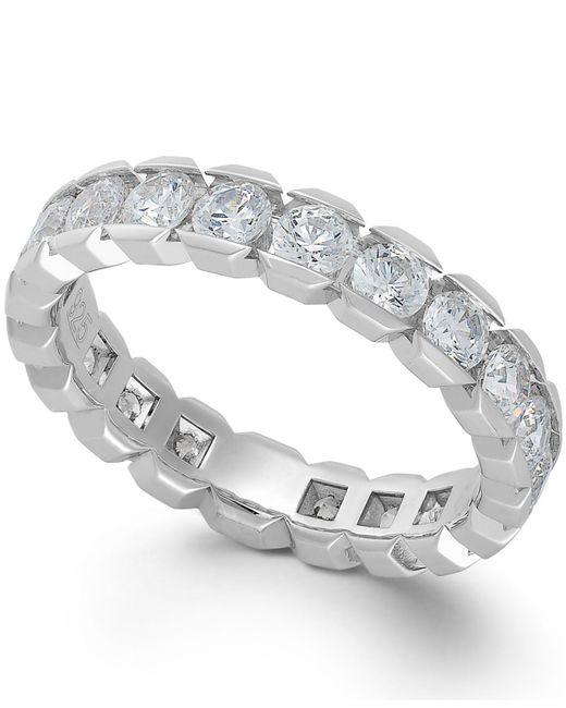 Macy's   Diamond Box Eternity Band In 14k White Gold (2 Ct. T.w.)   Lyst