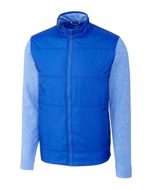 Cutter & Buck Blue Big & Tall Stealth Full Zip Jacket for men
