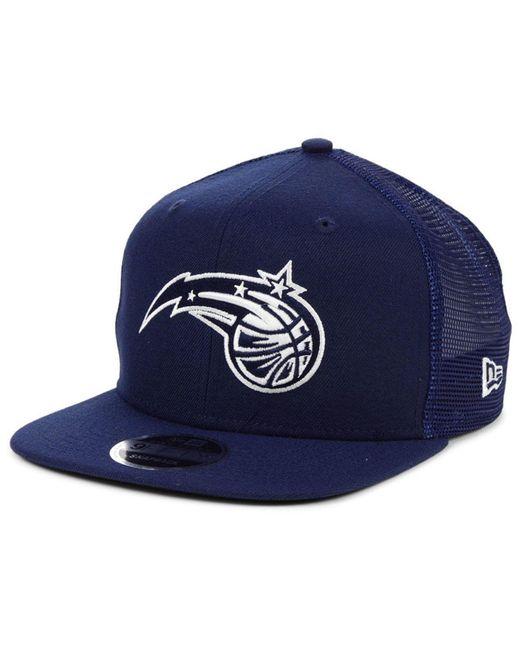 buy online 201b3 fd0dd KTZ - Blue Orlando Magic Dub Fresh Trucker 9fifty Snapback Cap for Men -  Lyst ...