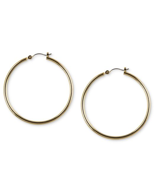 Nine West | Metallic Earrings, Gold-tone Tube Hoop Earrings | Lyst