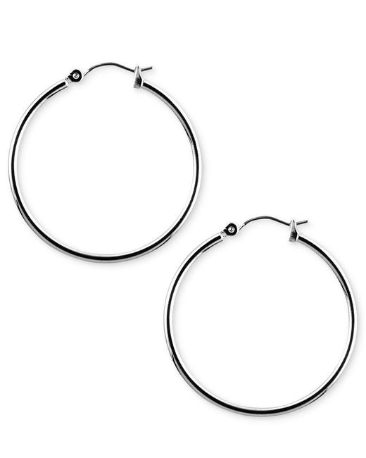 Nine West | Metallic Earrings, Silver-tone Hoop Earrings | Lyst